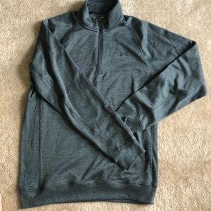 Men's under armor grey cold gear quarter zip